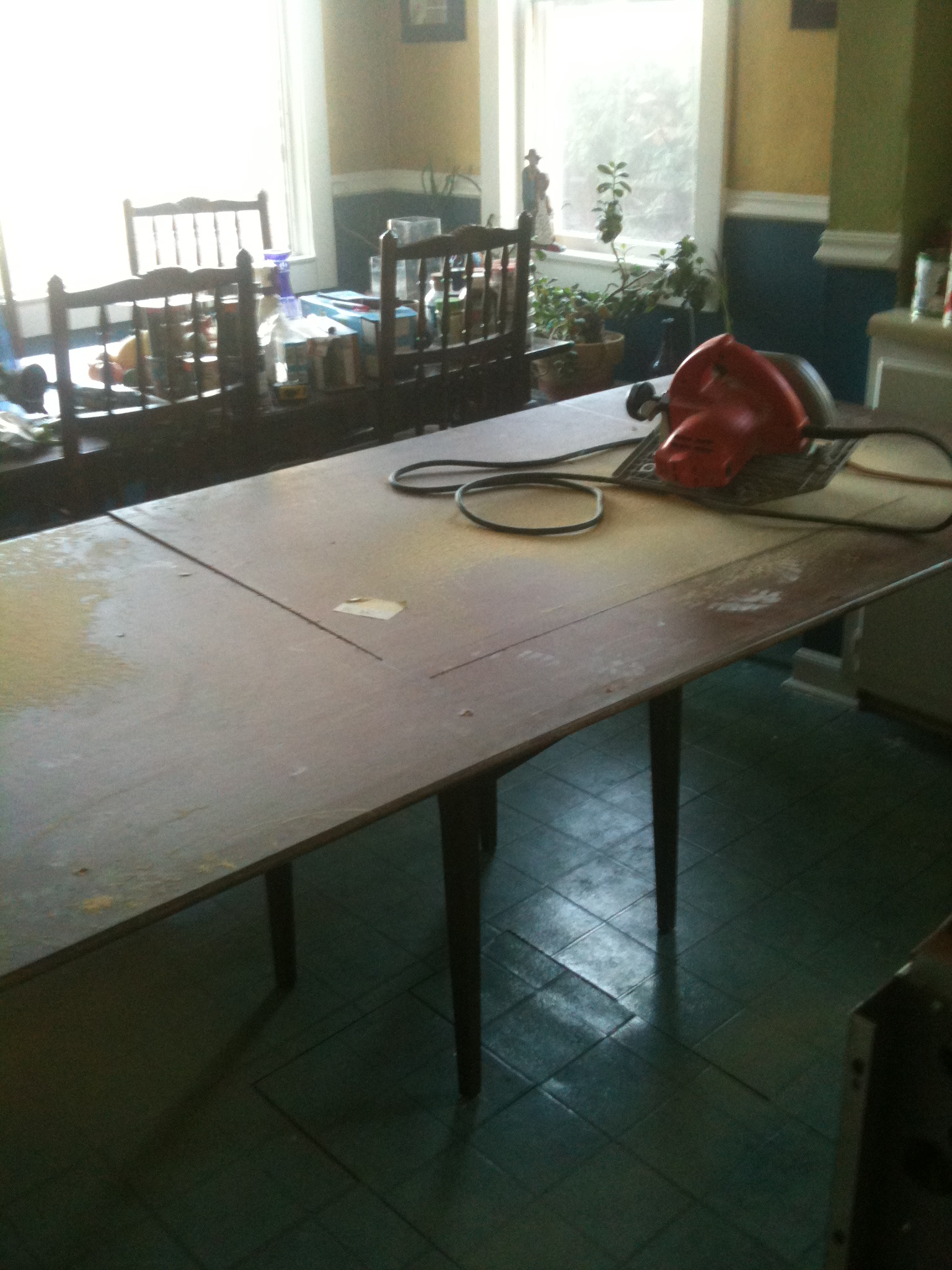 restore customer project used table top to beautiful kitchen
