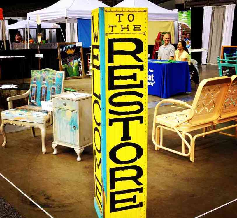 Garden Furniture New Orleans upcycled art at the home and garden show - new orleans area