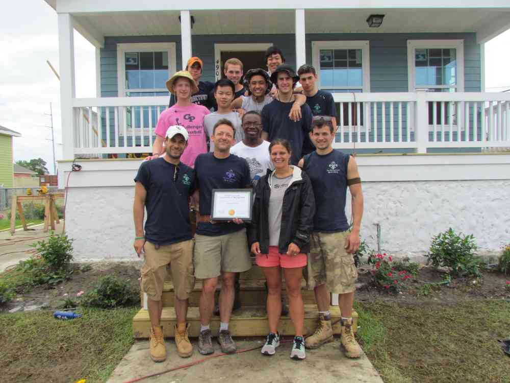 Georgetown Prep Volunteers Posing 2015