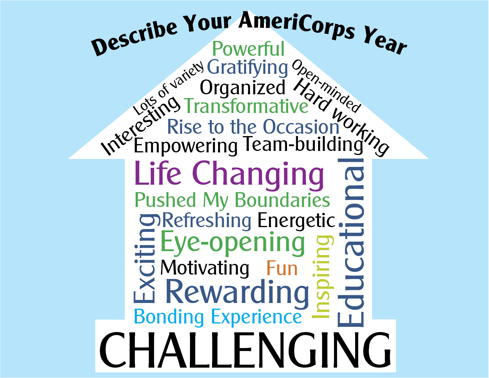 Americorps text graphics