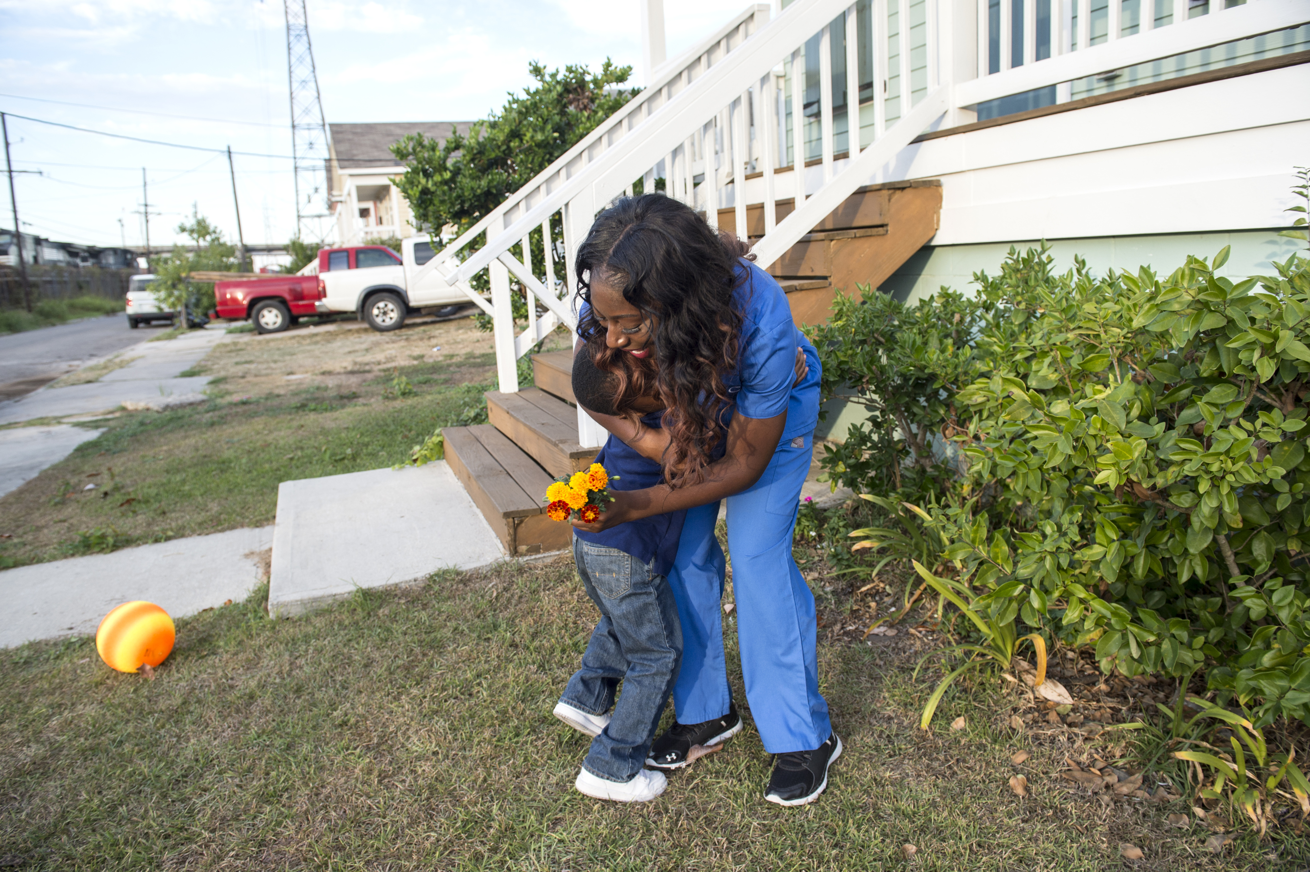 Tonya and her 3 year old son, Ryan, in Habitat For Humanity's Montegut Street home on November 6, 2016, in New Orleans, LA. (Erika Goldring Photo)