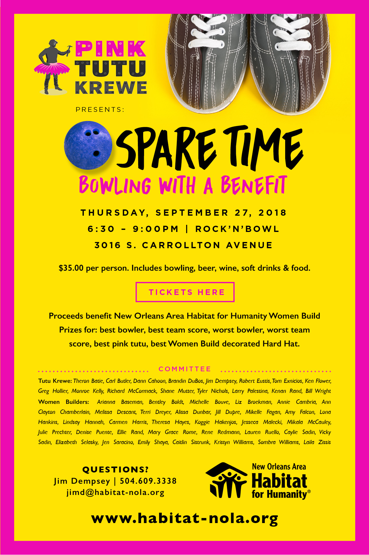 3751385ee37e Spare Time  Bowling With a Benefit - New Orleans Area Habitat For ...